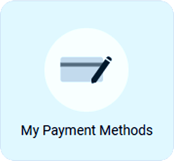 ShulCloud Member Portal Button for 'My Payment Methods' used by Temple Beth El of Boca Raton