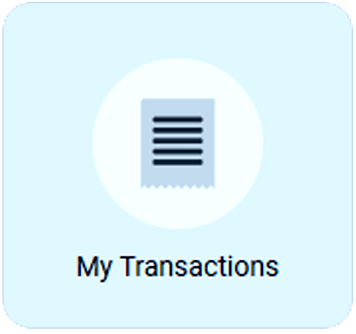 ShulCloud Member Portal Button for 'My Transactions' used by Temple Beth El of Boca Raton