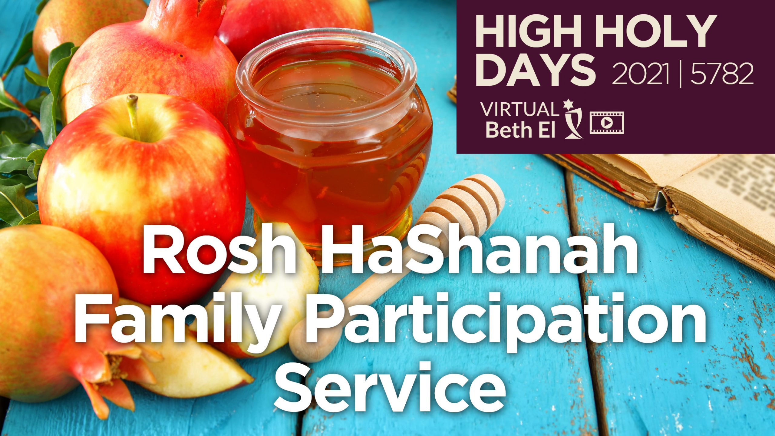 Rosh HaShanah Family Participation Services Announcement Graphic for 2021 5782