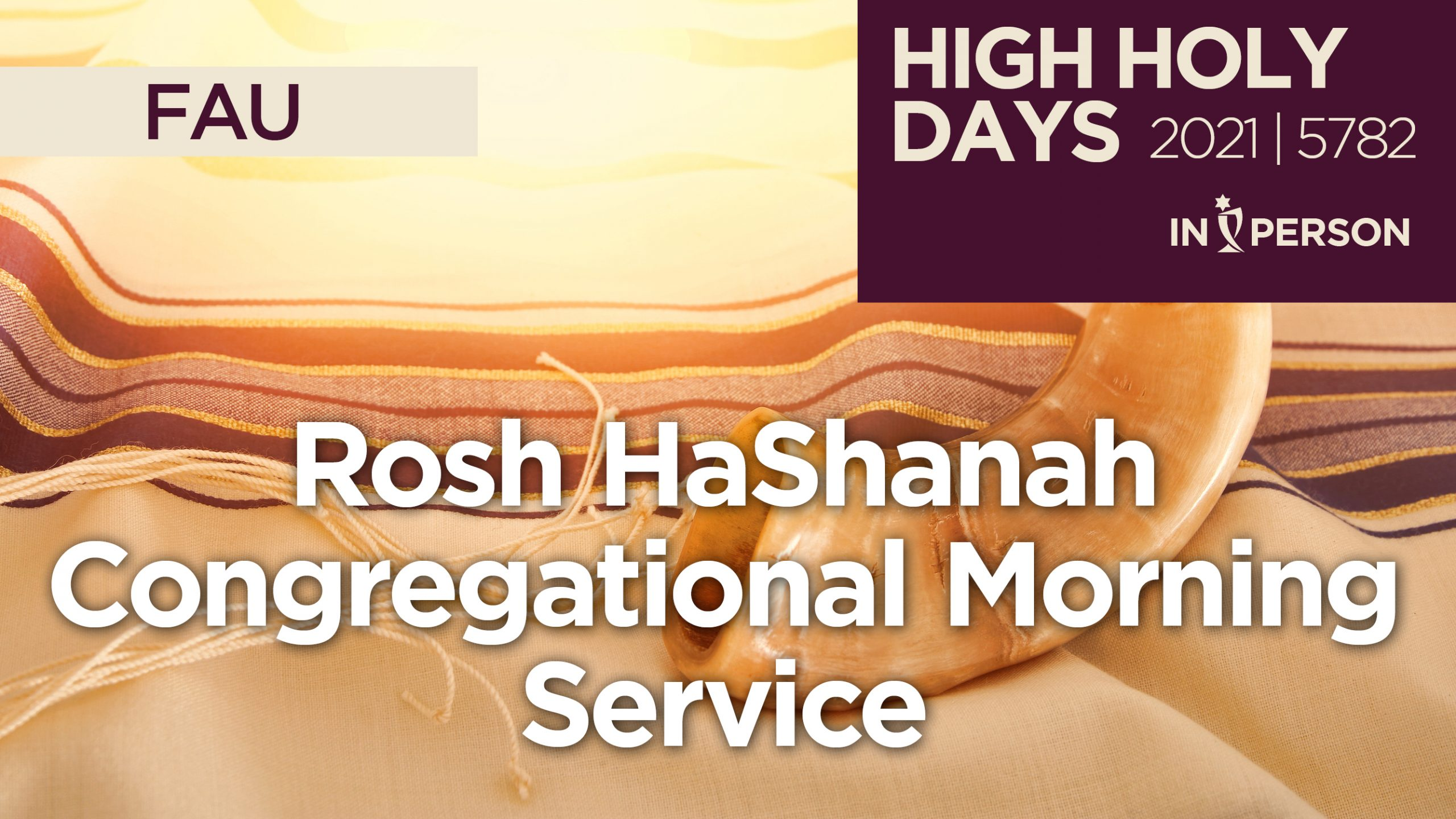 Rosh HaShanah Services Announcement Graphic for 2021 5782 at FAU