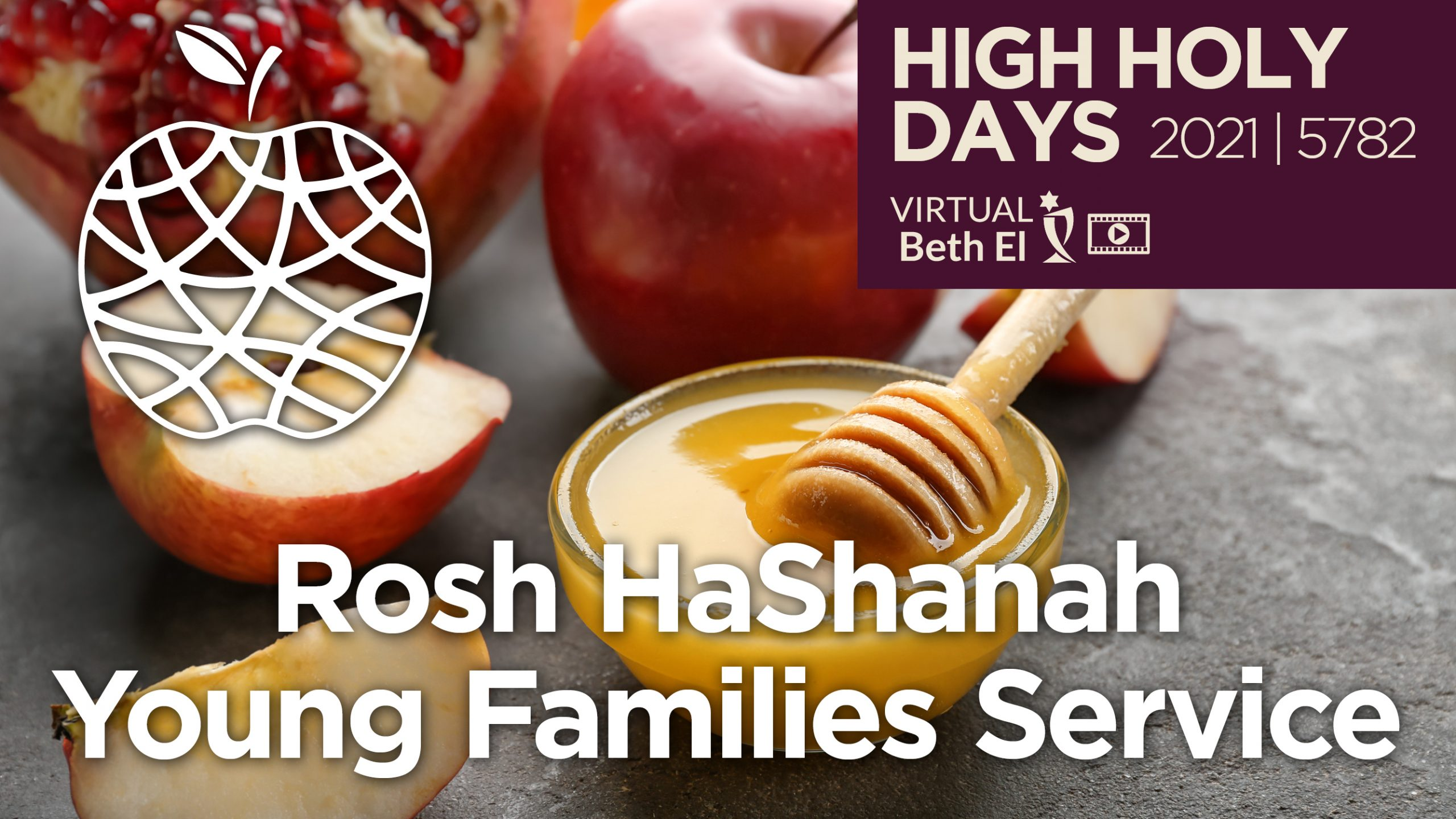 Rosh HaShanah Young Childrens Services Announcement Graphic for 2021 5782