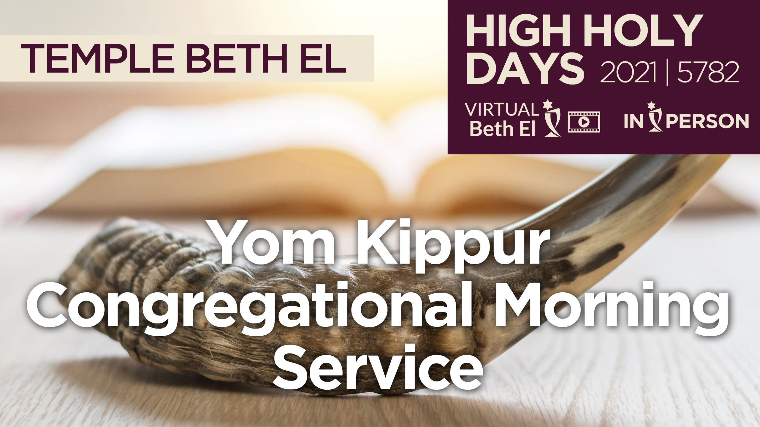 Yom Kippur Morning Services Announcement Graphic for 2021 5782
