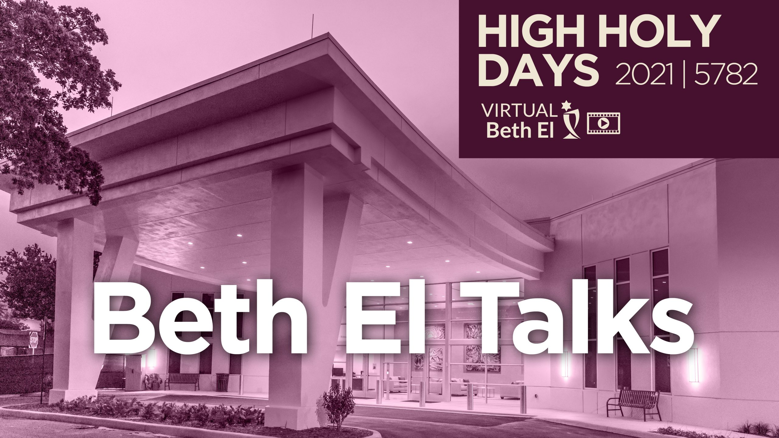 Beth El Talks, event graphic for Temple Beth El High Holy Days event on Yom Kippur with Temple Beth El, virtual event only