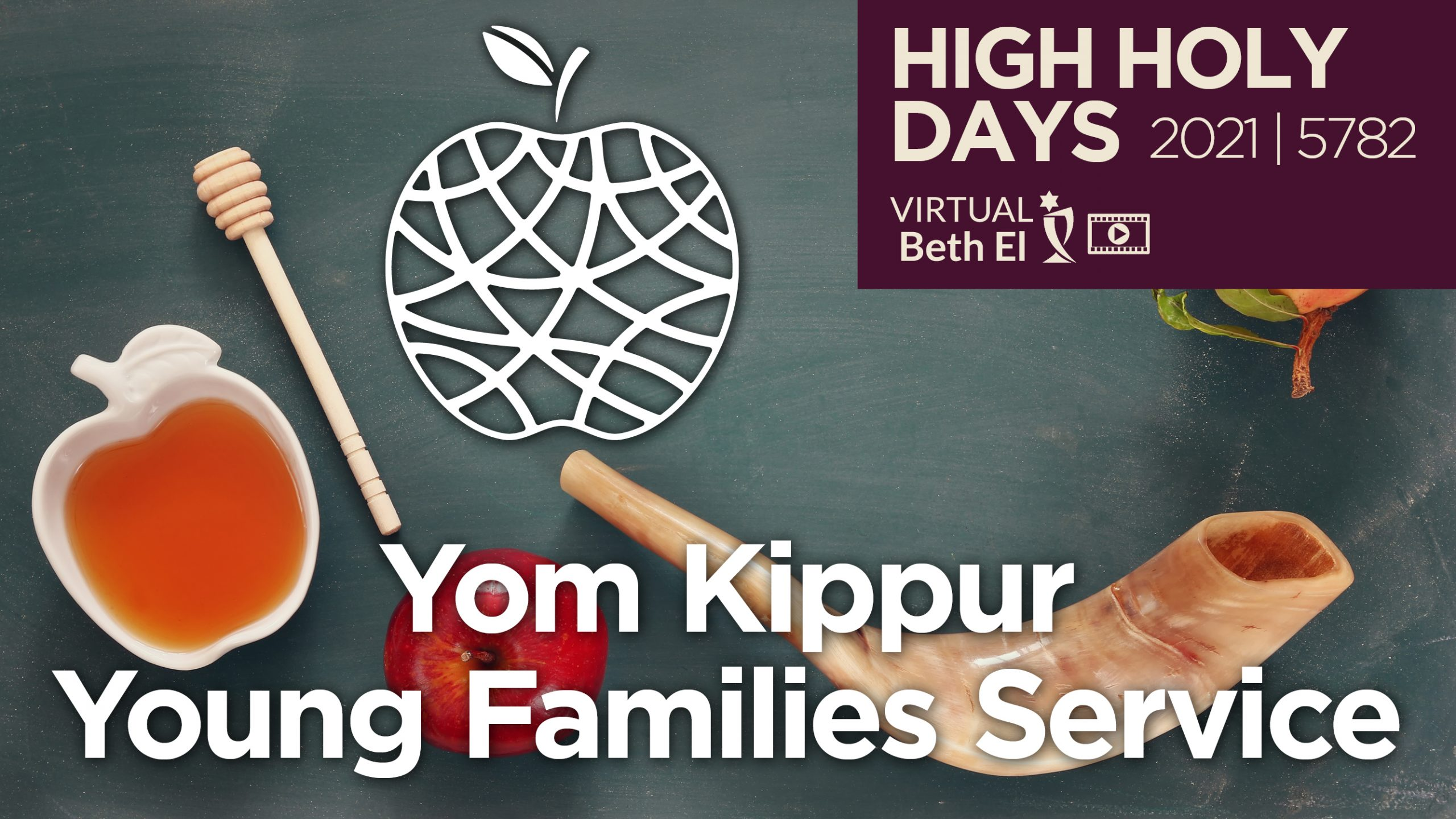 Yom Kippur Young Childrens Services Announcement Graphic for 2021 5782