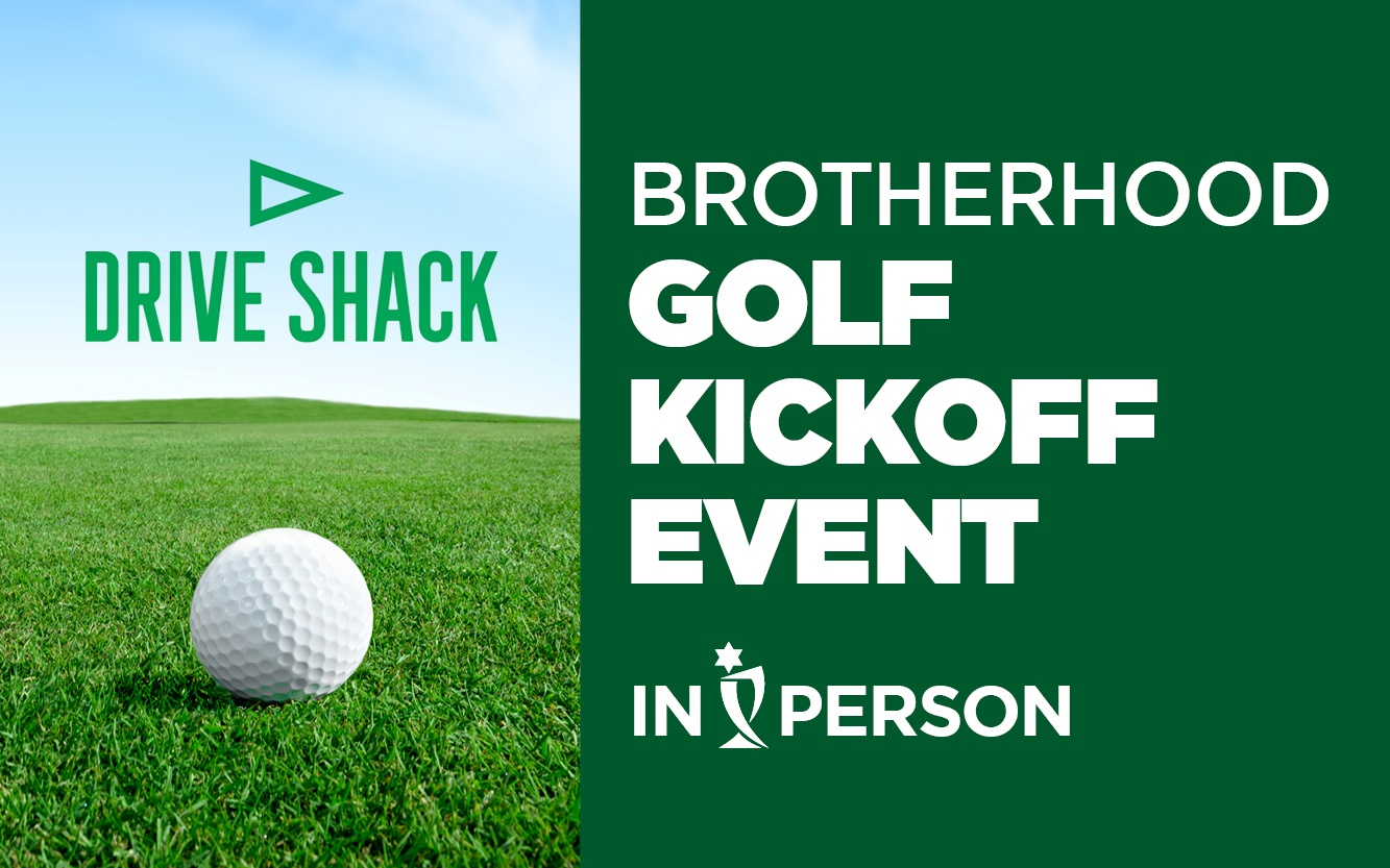 Brotherhood golf kickoff event graphic August 2021
