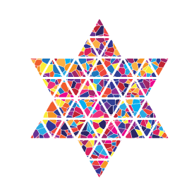 Star of David in Mosaic Style, created for Temple Beth El;