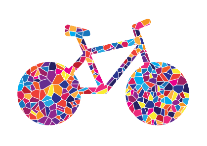 Bicycle in Mosaic Style, created for Temple Beth El