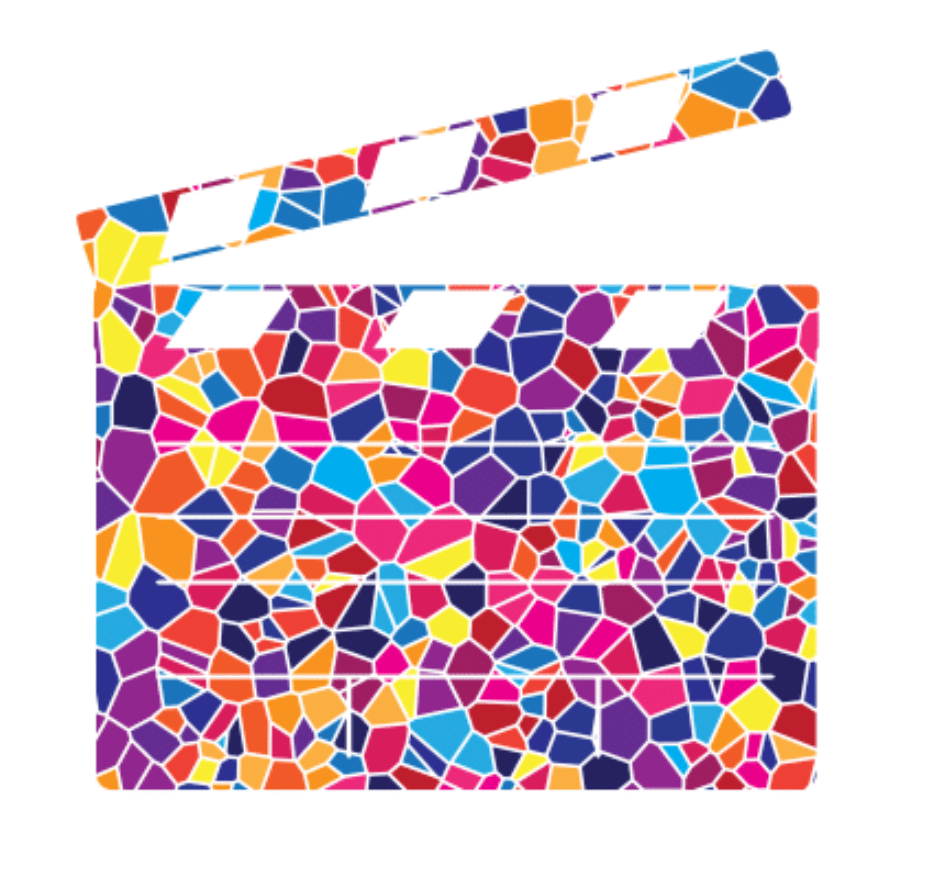 movie film clapboard in Mosaic Style, created for Temple Beth El;