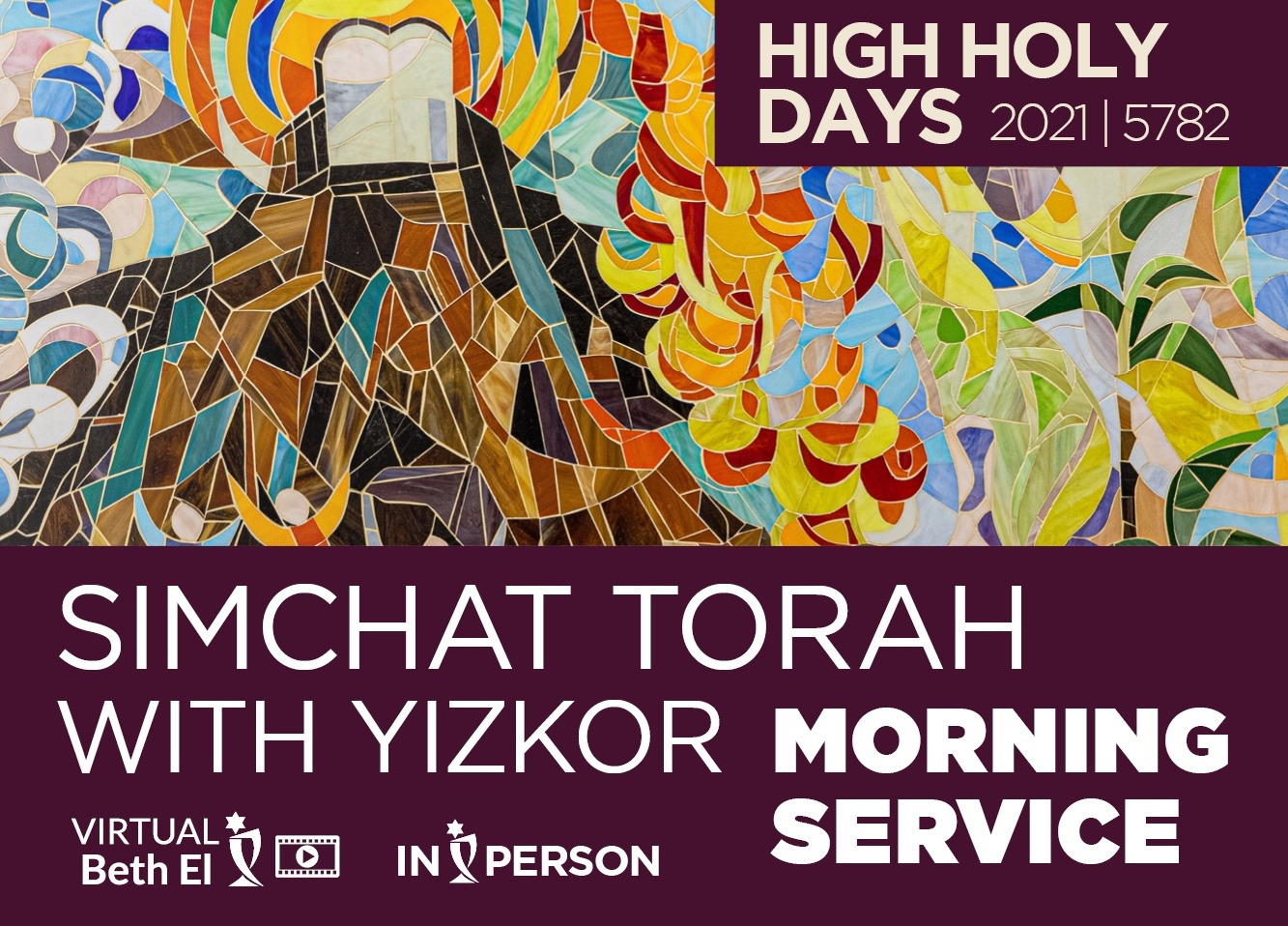 Simchat Torah Morning Service with Yizkor event graphic for Temple Beth El of Boca Raton